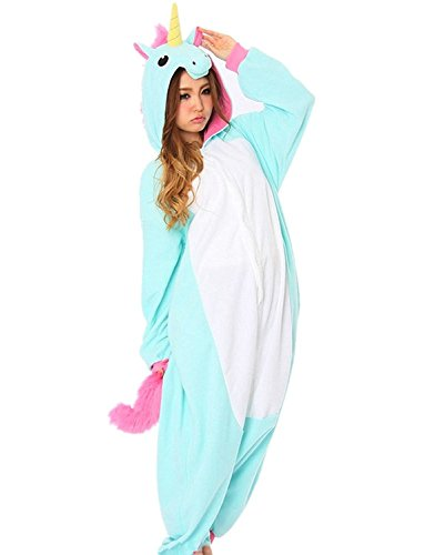 ZEAYEA-Adult-Animal-Kigurumi-Unicorn-Cosplay-Costume-Pajamas-Aqua-Blue-L