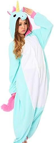 ZEAYEA Adult Animal Kigurumi Unicorn Cosplay Costume Pajamas