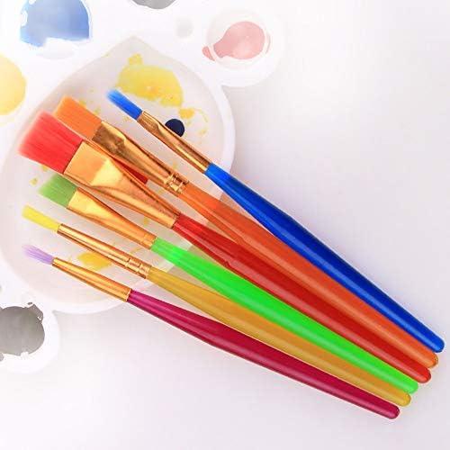 SDAKVDNS 6つのペイントブラシ、快適なグリップ、変形するために、簡単にきれいに簡単に、美術や芸術絵画のための油絵ブラシ