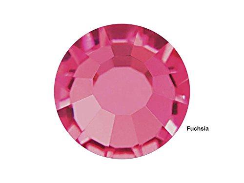 Fuchsia, 36 Preciosa Genuine Czech Viva Crystals 40ss, ss40 (8.5mm) - 40ss Crystal