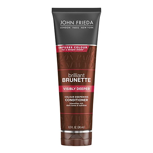 John Frieda Brilliant Brunette Visibly Deeper Colour Deepening Conditioner, 8.3 Ounce