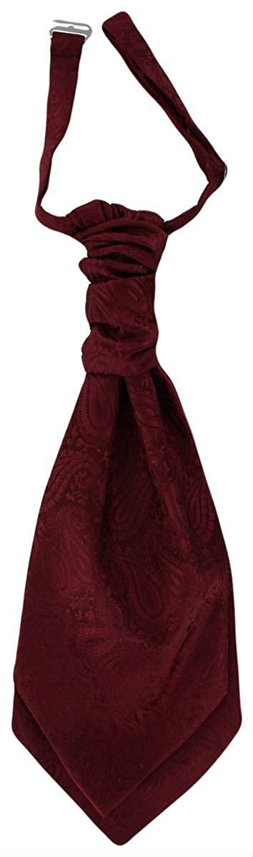 Dark Red Michelsons of London Mens Tonal Paisley Cravat and Pocket Square Set