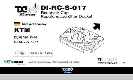 Dimotiv DMV チタン- マスターシリンダーキャップ KTM 390 DUKE 13-14 KTM 200 DUKE 12-14 DI-RC-S-017-T