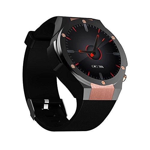 SHENGMO H2 3G Smart watch Phone 1.39 inch MTK6580 Quad Core ROM 16GB RAM 1GB 2.0MP Cam Heart Rate Monitor Pedometer GPS Smart Watch (gold)