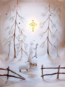Amazon com: Canvas Print - Radiance Star of Wonder Lighted