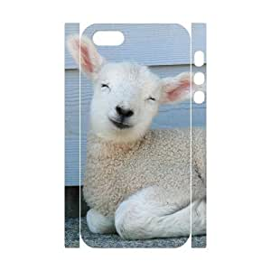 3D Bumper Plastic Customized Case Of Sheep for iPhone 5,5S