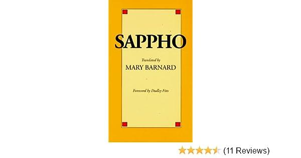 Amazon sappho a new translation 9780520011175 mary amazon sappho a new translation 9780520011175 mary barnard dudley fitts books fandeluxe Gallery