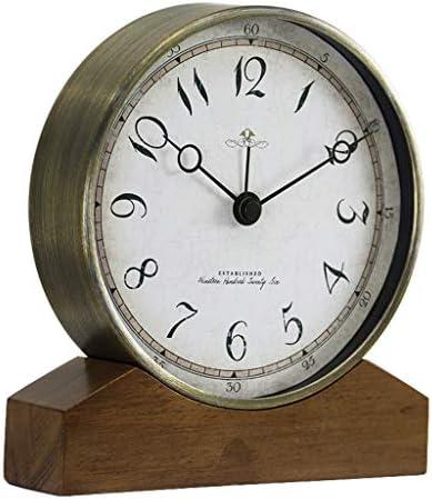 時計ホームアメリカンリビングルームのベッドルームミュートノンティッククリエイティブデスクトップデコレーションクロック (Color : A)