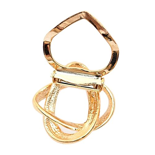 [Sewanz Women's Rhinestone Metallic Scarves Buckle, Modern Silk Multi-uses Scarf Clip Brooch] (Buckle Silk)