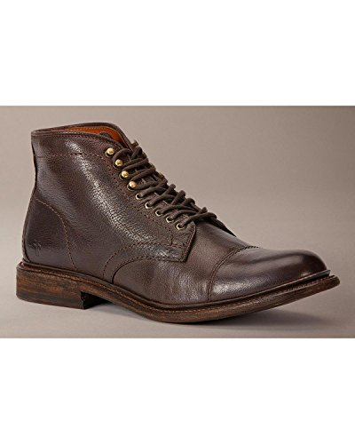 FRYE Men's Jack Lace Up Dark Brown Buffalo Leather Boot 10 D (M)