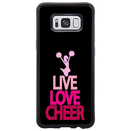 Skinsends Vanity Cute Cheerleader Cheer Bow Pink Quote Phone case Compatible with Samsung s8 Plus, Hard Plastic Protective Shell Compatible with Samsung Galaxy s8 Plus]()