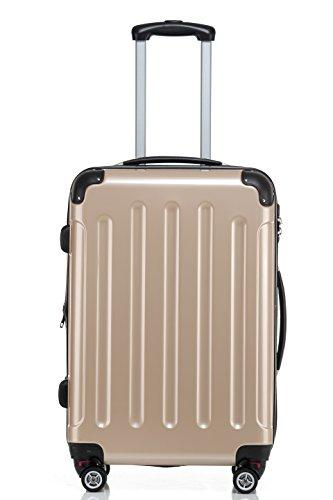 4110PoIqZKL - Beibye - Juego de 3 maletas rígidas (tamaños XL, L y de mano), color lila