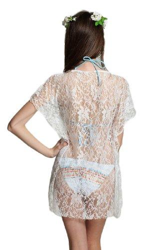 "Waooh - Fashion - Kleid Strand transparenter Spitze "" Nikky "" - Weiß"