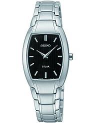 Seiko Womens SUP259 Analog Display Analog Quartz Silver Watch