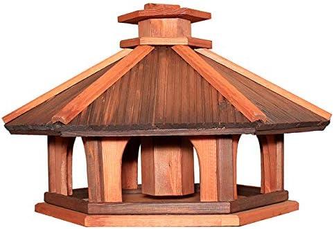 KWL2OP Vogelhuisje Vogelvilla voederdispenser hout