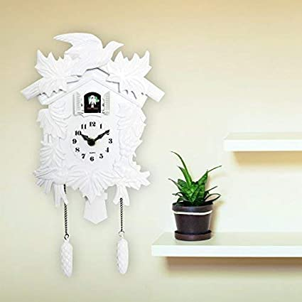Walplus Elegante Blanco CUCO Reloj decoración pared Home Living Habitación cocina Decor Restaurante Café Hotel Oficina Decoración