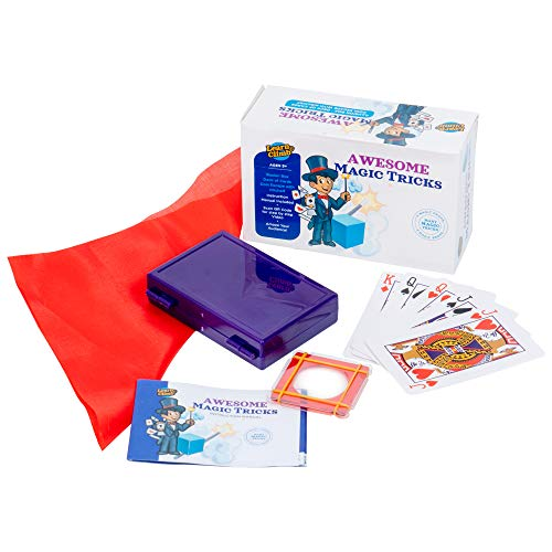 Learn & Climb Magic Tricks for Kids Age 7,8,9,10- Set of 3 Unique Props Includes Illusion Box, Coin Escape with Kerchief, Deck of Magical Cards and Easy to Follow Instructions.