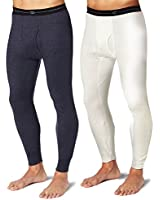 Duofold KMW2 Men's Thermal Base-Layer Underwear Medium 1 Navy + 1 Winter White