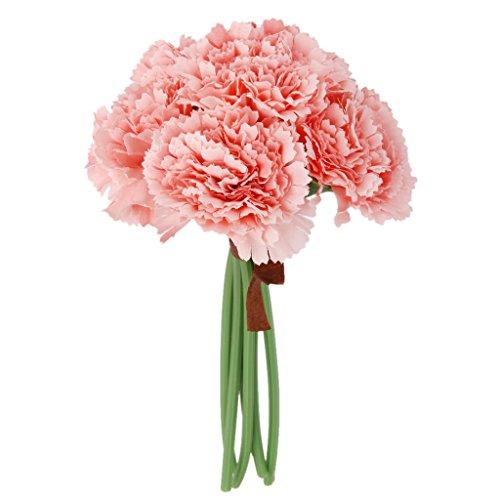 MagiDeal Artificial Carnation Bouquet Decoration