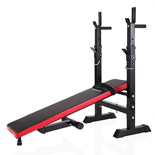 Tobbi Adjustable Folding Weight Lifting Bench for Full-Body Workout by Tobbi