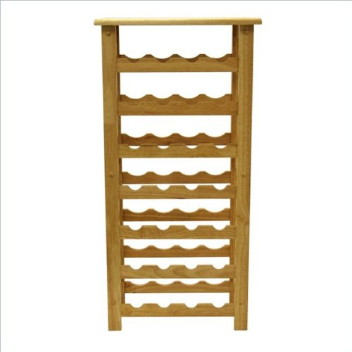 Winsome Solid Beechwood 28 Bottle Contemporary Wine Rack