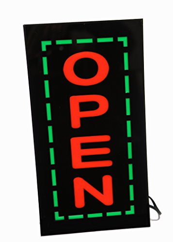 UPSUN Bright LED Neon Light Animated Motion Open Sign for Restaurant Business Store Shop