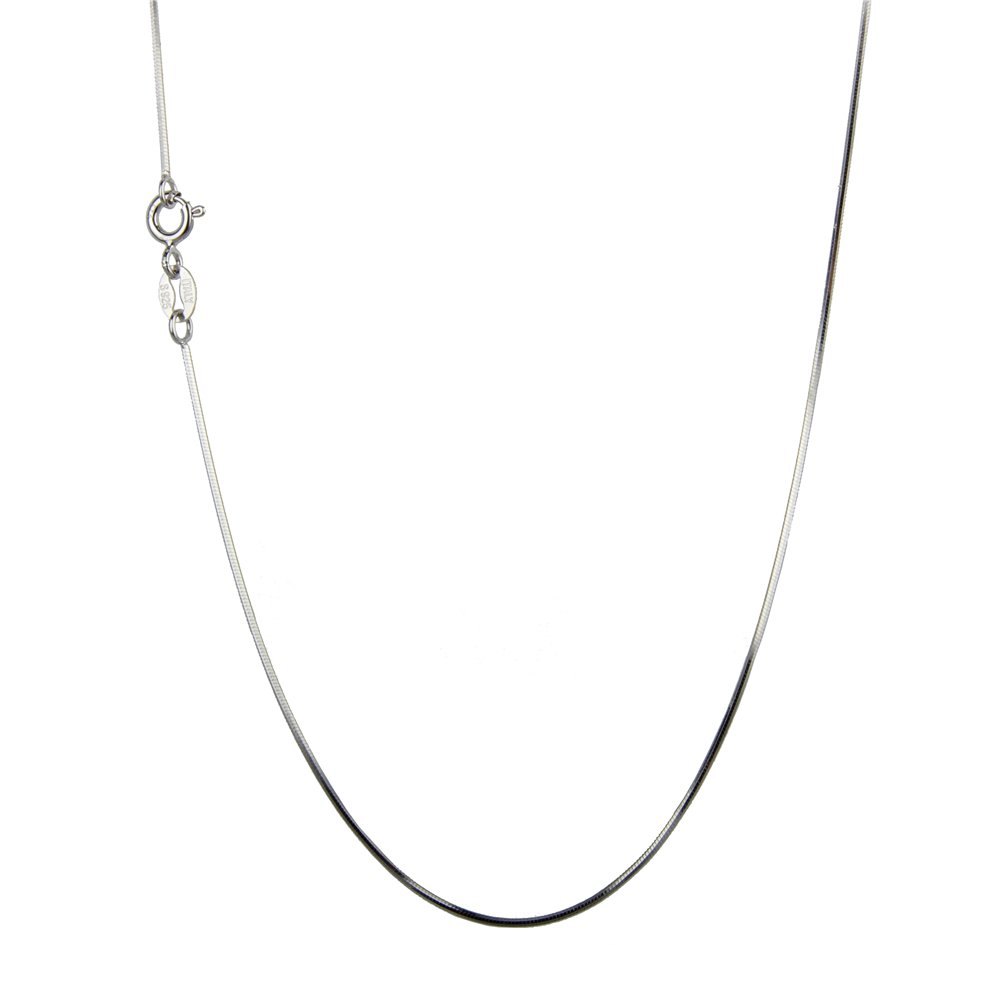 NY Jewelry 925 Sterling Silver Snake Chain Necklace 0.7mm Thin Chain Necklace Solid Silver for Women in 16//18//20//22//24//26