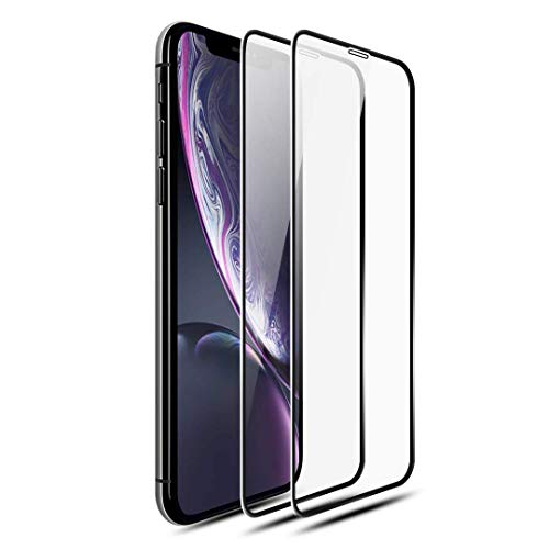 [2-Pack] Screen Protector Compatible for iPhone XR, 9H Hardness, HD Clarity, Anti-Fingerprints, Case Friendly, Tempered Glass Screen Protector for iPhone XR(6.1 Inch)