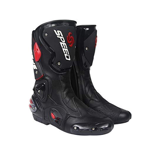 FULUOYIN Lange Motorradstiefel Motorrad Schuhe Herren Sneaker Wasserabweisend mit Hartschalenprotektoren und Reflexion…