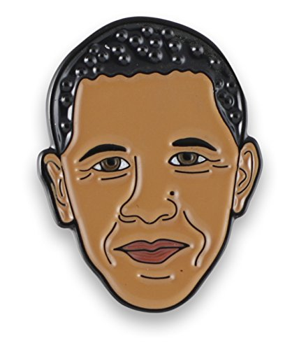 Obama Jewelry - Celebrity Character Enamel Lapel Pins (Obama)