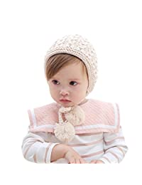 Christmas Gift Fmeida Winter Warm Knitted Hat Earflap for 0-3 Years Old Baby Girl