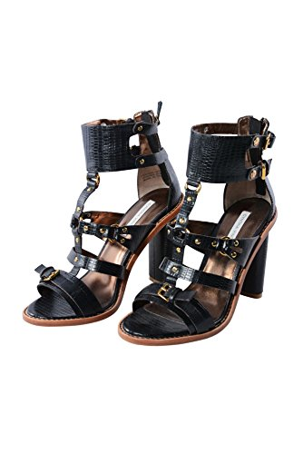 Black Vincent 6 Sandals Women's Heel Strappy Cynthia Kelsey Leather UAw4xd0qq