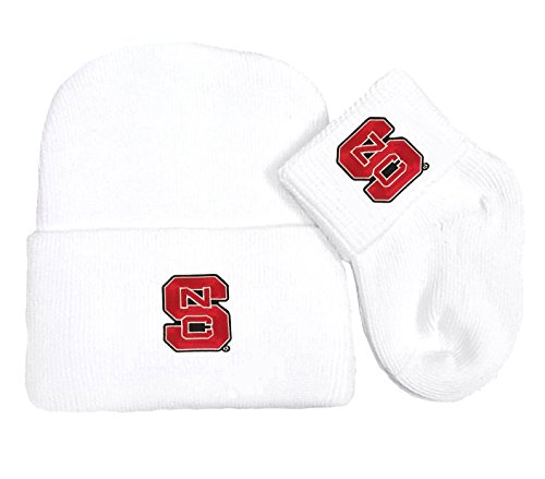 Future Tailgater NC State Wolfpack Newborn Baby Knit Cap and Socks - Nc State Pajamas Wolfpack