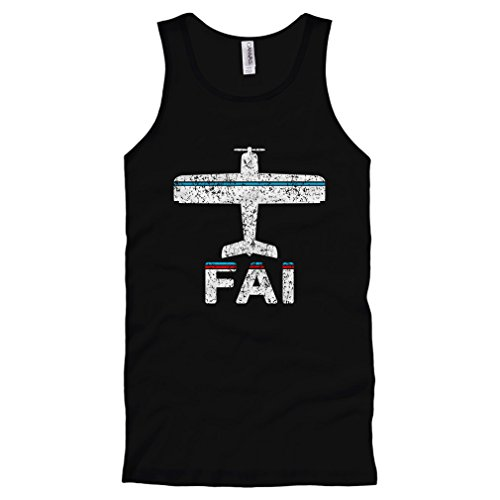 Smash Transit Men's Fly Fairbanks FAI Airport Tank Top - Black, XX-Large