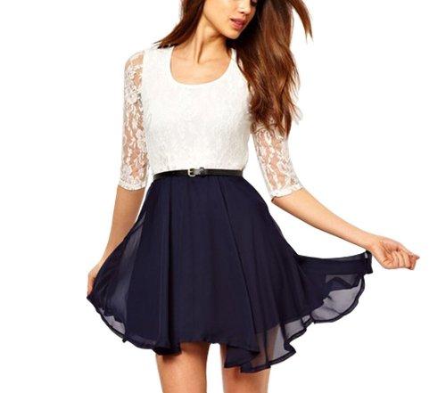 Little Hand Womens Summer Lace Chiffon Dress