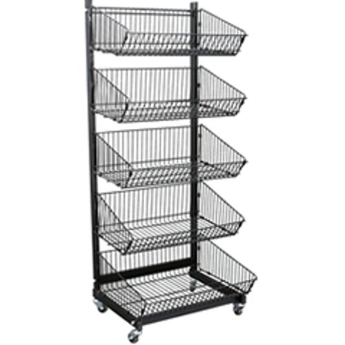New Retails 5 Basket Metal Impulse Display Rack23-1/2 in W x 21 in D x 58 in H by Counter Display
