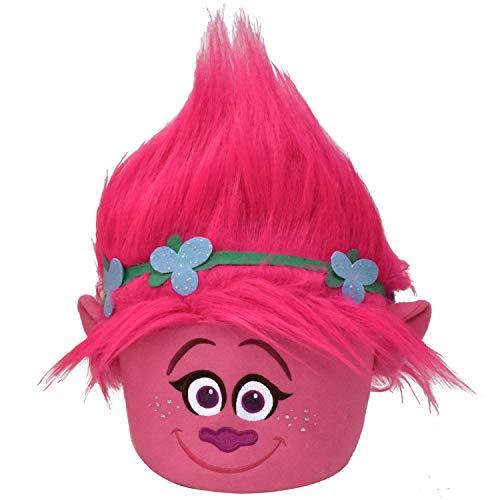 Trolls Poppy Pink Plush Easter Basket 8x8x7