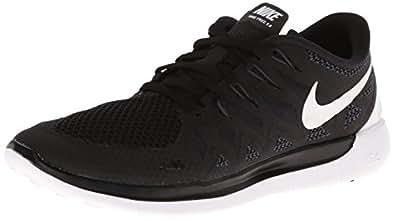 Nike Women's Free 5.0 Black/White/Anthracite Running Shoe 6 Women US
