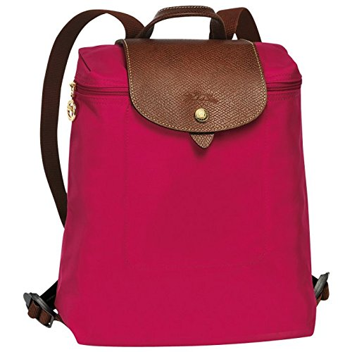"Backpack ( red garance ) by longchamp paris "" LE PLIAGE"" 100% authentic original from PARIS FRANCE"