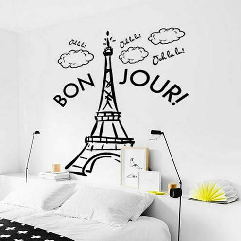 Tomikko Wall Decal Vinyl Sticker Decor Sign Paris Mural France The Eiffel Tower M1387 | Model DCR - 536