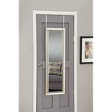 Sandberg Furniture 19311 Champagne Silver Deluxe Full Length Over The Door Mirror