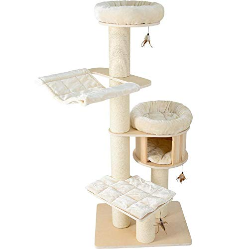 Ludage Cat Climbing Frame Honeypot Cat Solid Wood German Luxury cat nest cat Tree cat Rack 1.8 Meters high Large