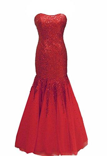 Kleid Rot Rot Damen Flowerry Kleid Flowerry Damen Rot ad50xaq