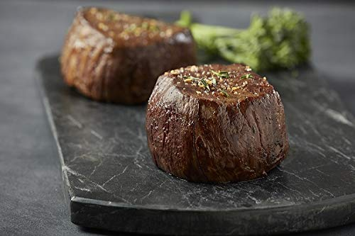 (Premium Angus Beef – Set of 4 (8oz) Wet-Aged Filet Mignon Steaks, Tender Beef Cut Completely Trimmed of Exterior Fat, Melt in your Mouth Steak Set Savory Beef Dinner Best)