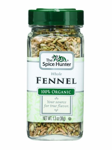 The Spice Hunter Fennel, Whole, Organic, 1.3-Ounce Jars (Pack of 6) by Spice Hunter