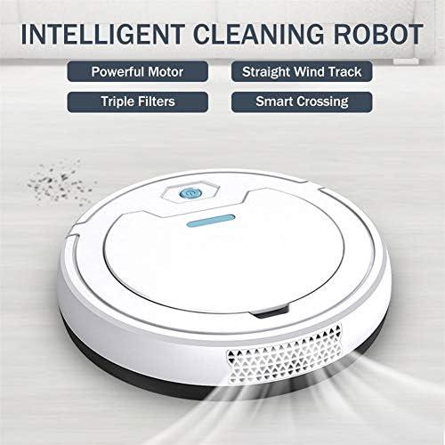 HUBi Robot Aspirapolvere, 1800Pa Potente Multifunzione 3 in 1 Intelligente Anti-collisione Robot Spazzare, Adatto a Pavimento di Legno/Tile/Marmo