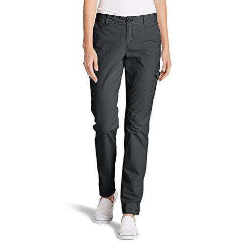 Eddie Bauer Women's Adventurer Stretch Ripstop Cargo Pants - Slightly Curvy,Dk Smoke (Grey),10 Regular ()