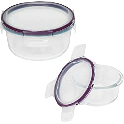 Snapware Total Solution Pyrex Round Pyrex Glass Food Storage Container Set (4-Piece)