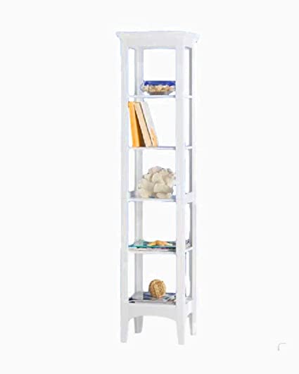 Etonnant STS SUPPLIES LTD Narrow Bathroom Shelving Unit Shelves Storage Corner  Organizer Contemporary Tall Decor Tri Fold