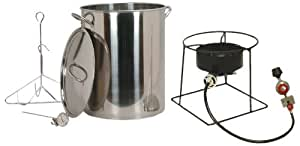 King Kooker SS1267 Stainless Steel 30-Quart Turkey Frying Propane Outdoor Cooker Package with Battery Operated Time
